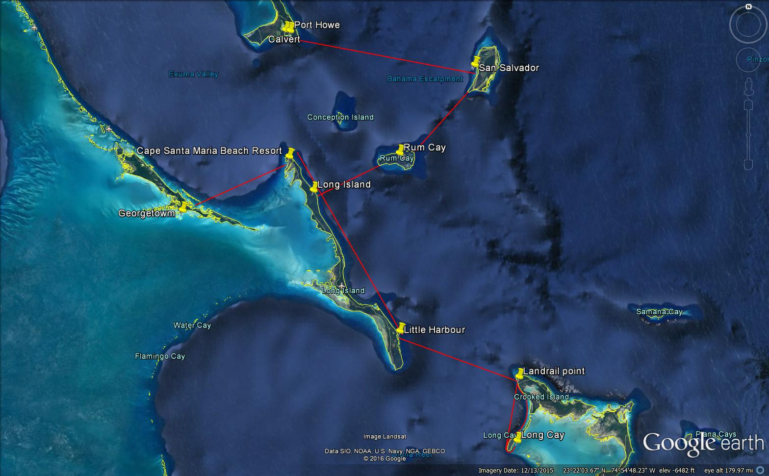 Columbus Expedition 2016 - Proposed Route